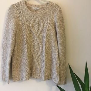 Madewell cableknit sweater - Small